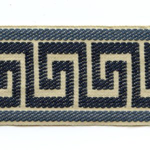"Greek Key Navy Blue 2.5"" Decorative Border Tape Trim"