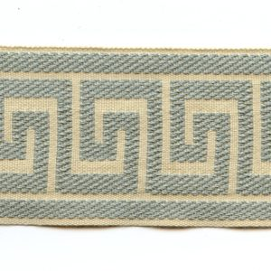 "Greek Key Mist Blue 2.5"" Decorative Border Tape Trim"