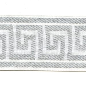 "Greek Key White 2.5"" Decorative Border Tape Trim"