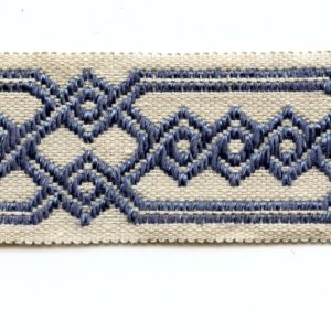 "Blue Geometric 2"" Decorative Border Tape Trim GY200/26"